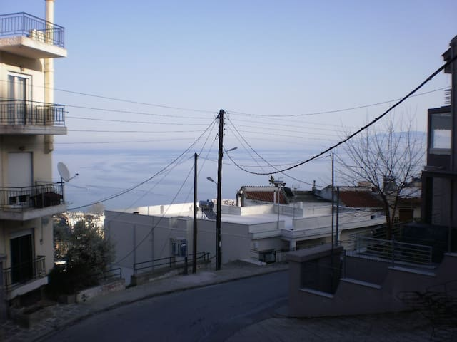 Beautiful and big apartment with lovely sea view - Kavala Prefecture - Apartamento