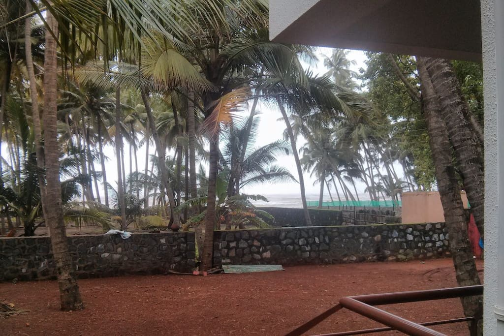 beach view from villa PS: This is actual picture (non zoom)
