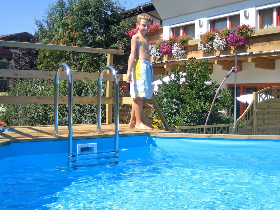 Pool Angerer Familienappartements Tirol