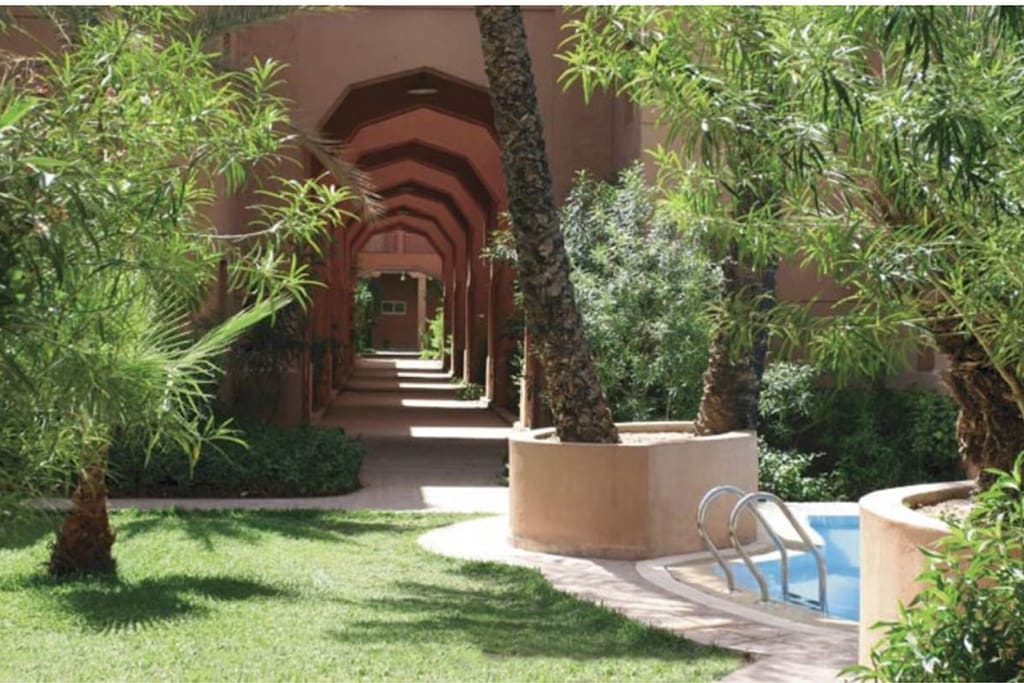 Piscine et espaces verts / swimming pool and garden