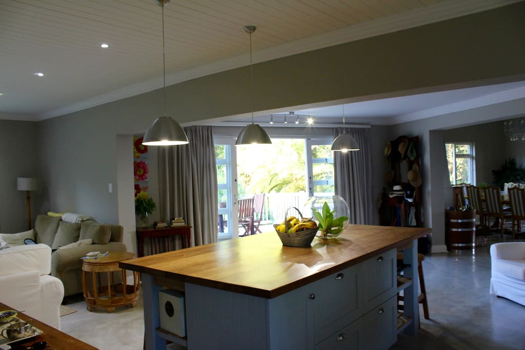 Open plan - looking out from the kitchen