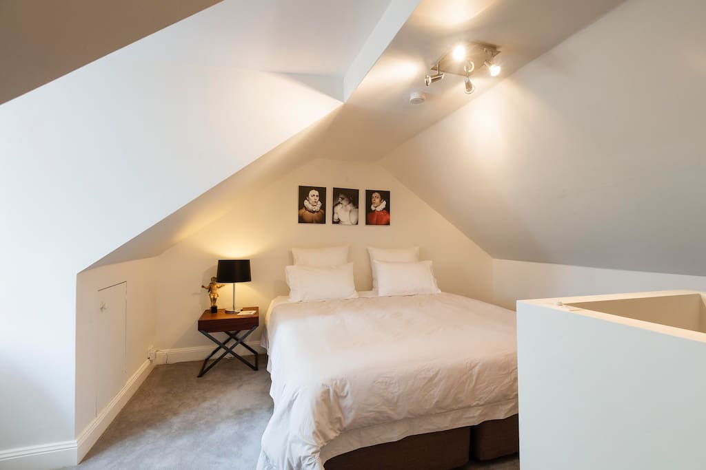 King bed in Attic room