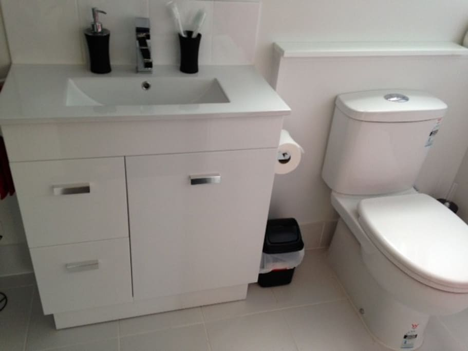 Ensuite with shower, vanity and wc