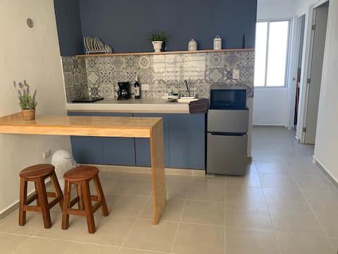 Blue 106, bonito y cómodo departamento
