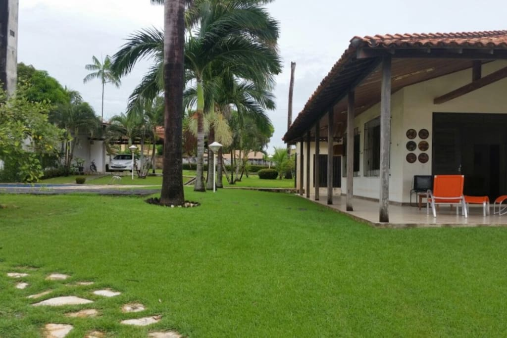 Área livre gramada