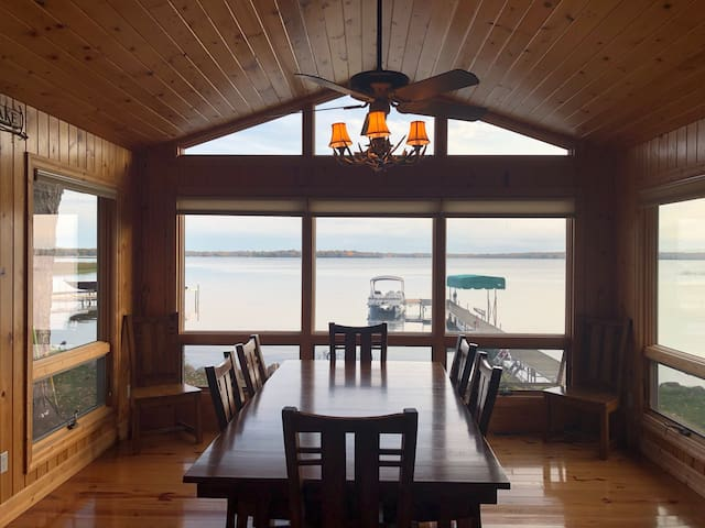 Beachfront Home on Mille Lacs Lake