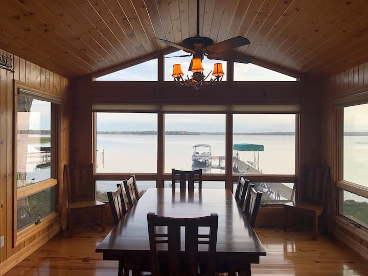 Beachfront Home on Mille Lacs Lake