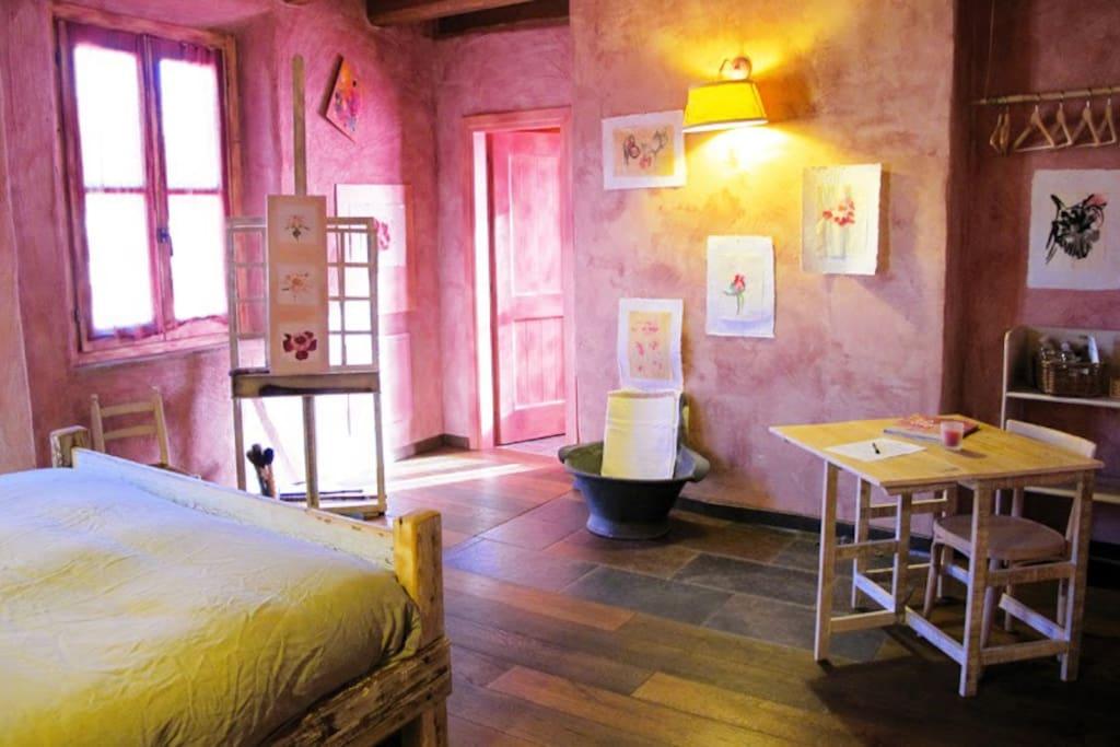 Stanza delle Peonie - la camera della pittrice di Peonie