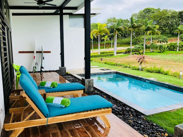 Enjoy relaxing pool side with this tranquil view