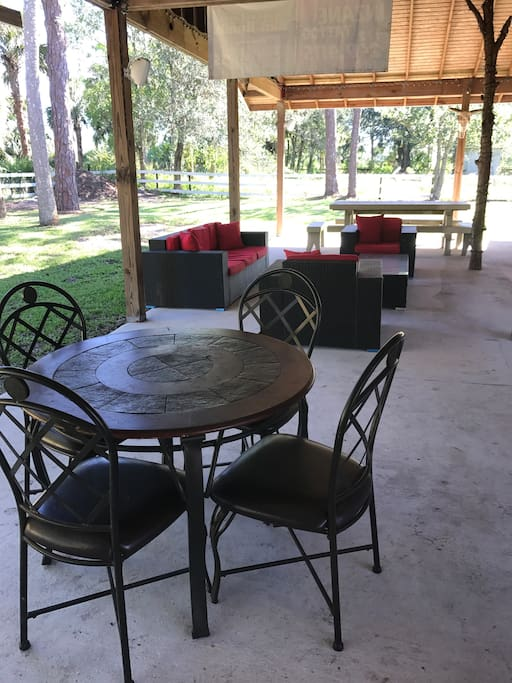 Our spacious back patio