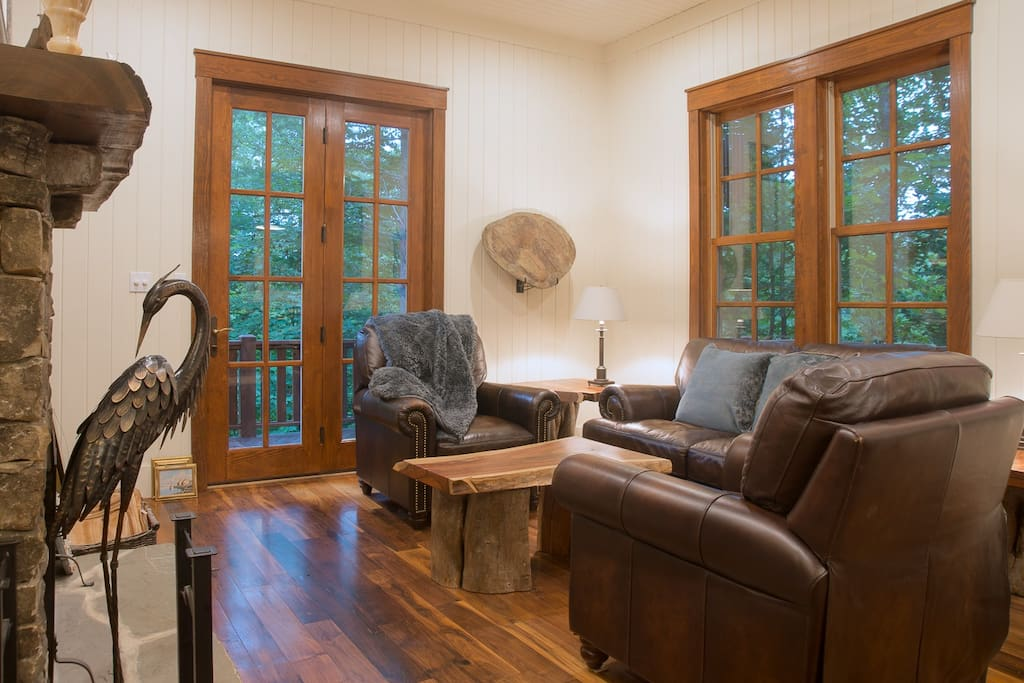Black Walnut floors great you as you enter