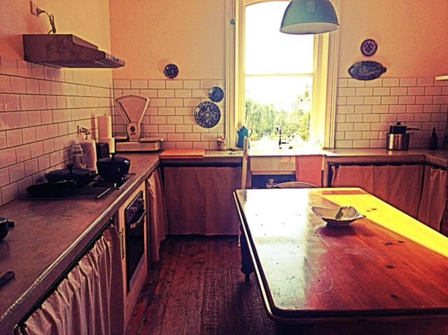 Modern rustic kitchen, w/ modern appliences + self sufficient