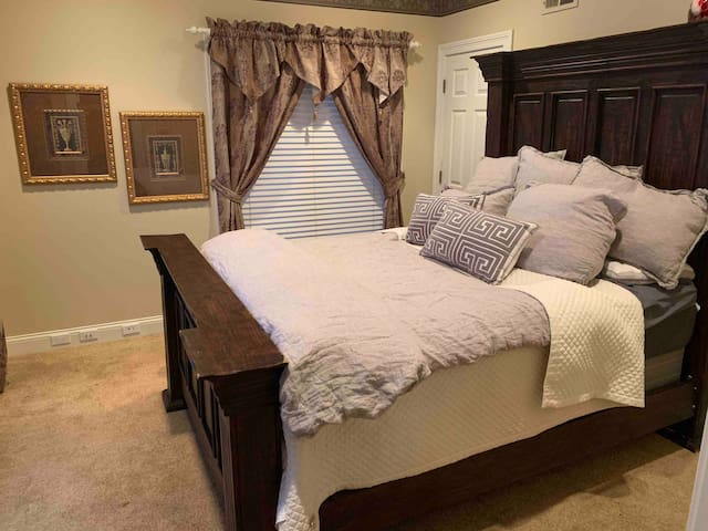Lakewood Estate Master suite with living suite