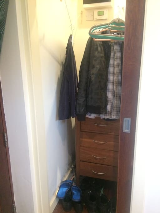 View of built in closet space