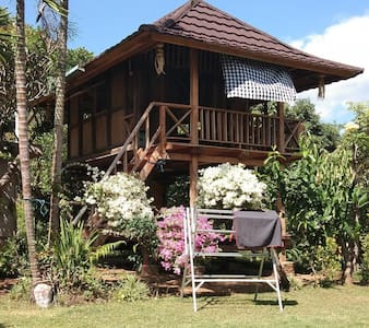 Sekumpul waterfalls Teak Wood house