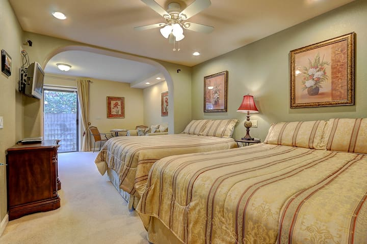 This is the adjoining Terraced Garden Suite with two queen beds.