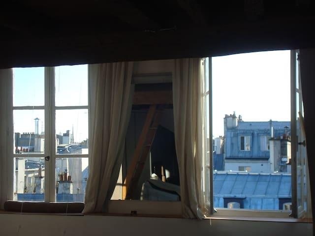 La Bohème a Parigi,vista e PIANO❤️ - Parigi - Loft