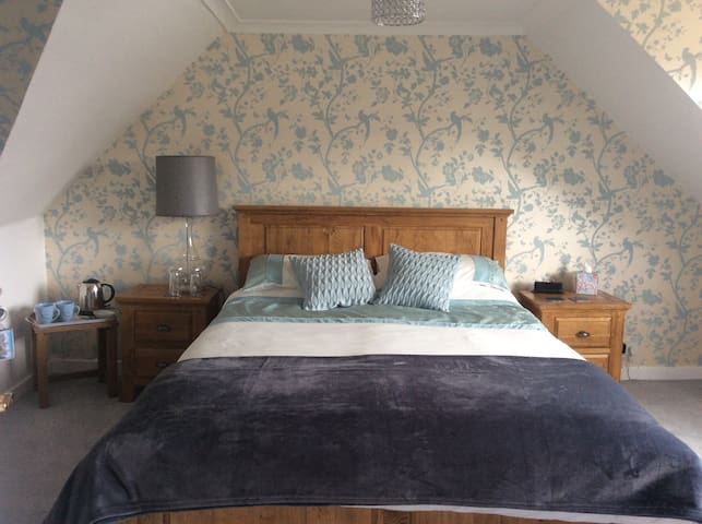 The Blue Room with king bed