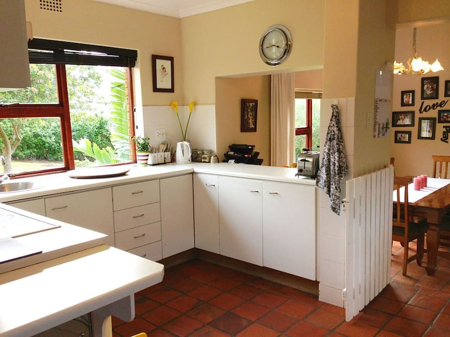 Large kitchen with all the appliances you could need.