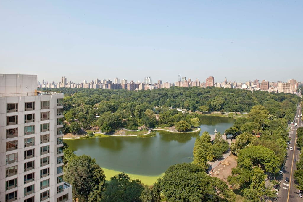 Paromanic view of Central Park, all the way downtown Manhattan