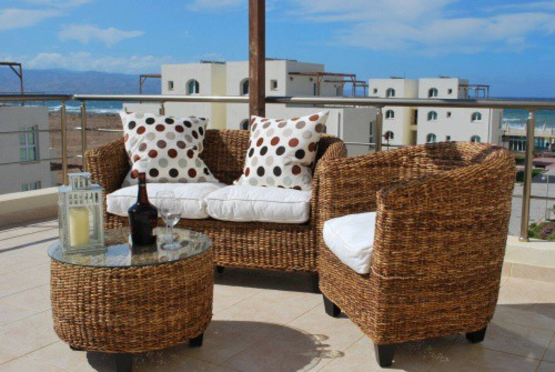 Top terrace looking towards the sea, Trodoos Mountains and Kyrenia Range.