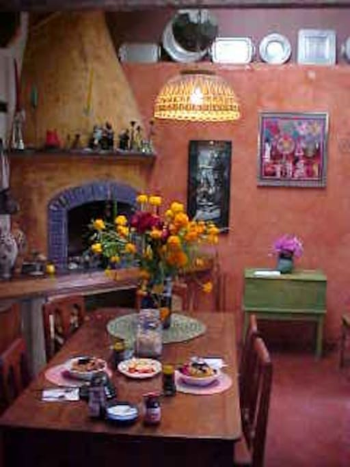 Your dining room for the excellent breakfasts at Sol y Luna.