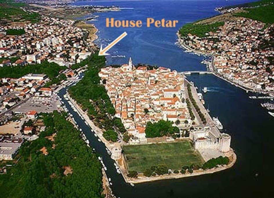 Apartment Antonija and house Petar ,position