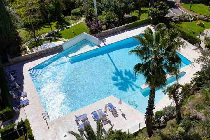 La Mirandole Studio Cannes, piscine & tennis mer