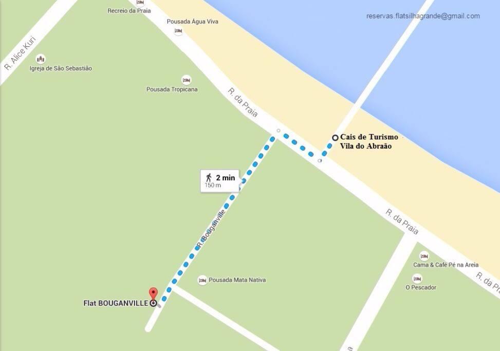 Mapa de localização do Flat Bouganville