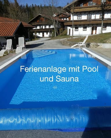 Large holiday apartment with pool, swimming pool and sauna