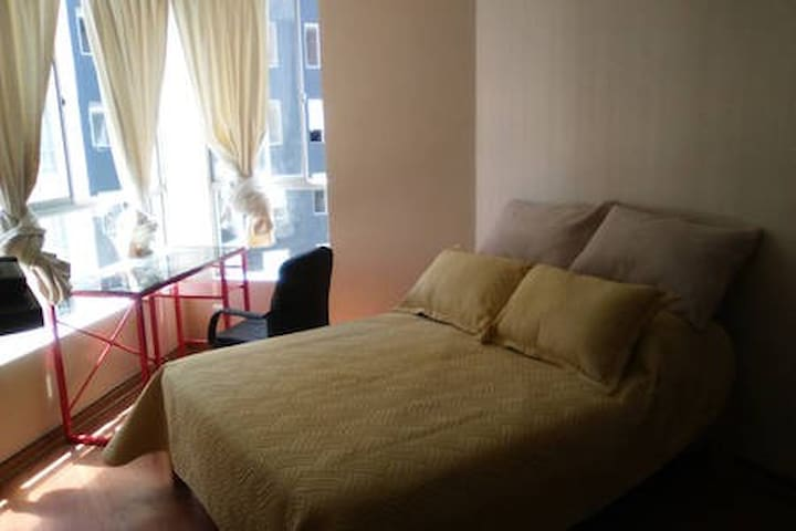 Apartment´s bedroom, double bed.