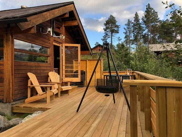 Small cabin with magnificent view