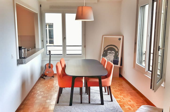 Bright 1 bed flat w balcony in the heart of Geneva - Genève - Apartment