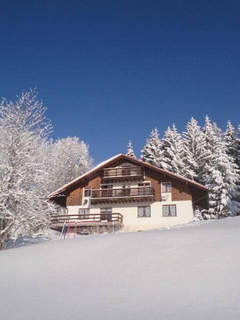 Chalet Nordland, vue sur les Alpes.