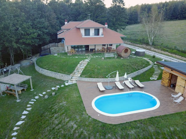 Garaši Villa with swimming pool, sauna and hot tub