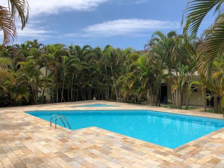 Paúba Beach House -Em lindo condomínio c/ piscina
