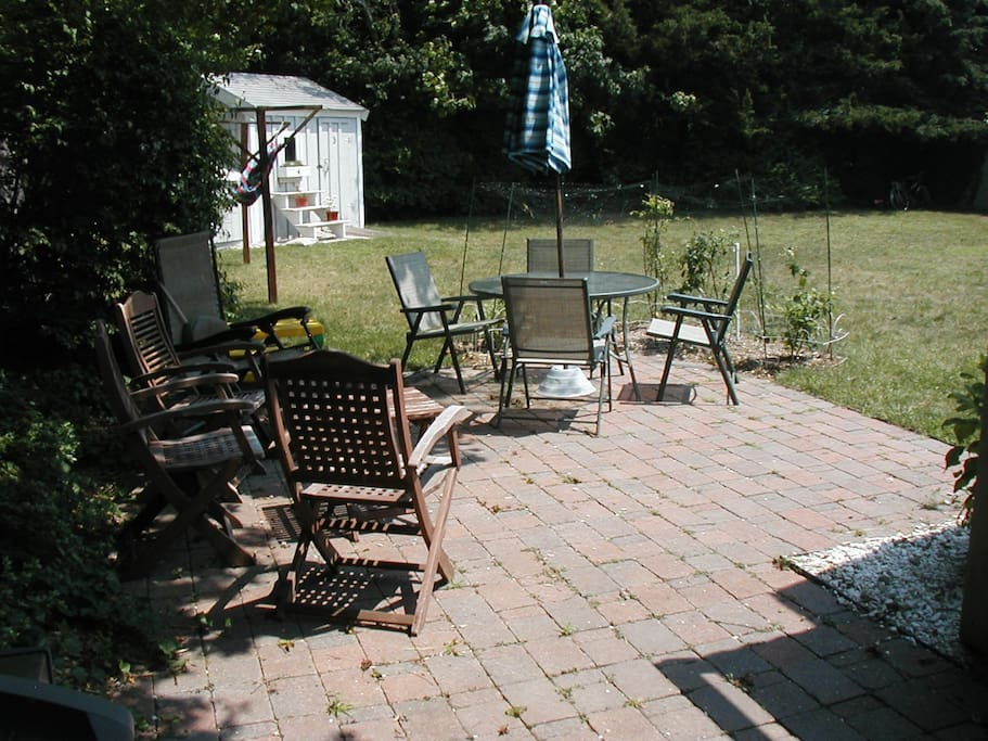 Patio and side yard