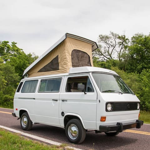 Cult VW camper van for adventures in Carlyle Lake - Carlyle