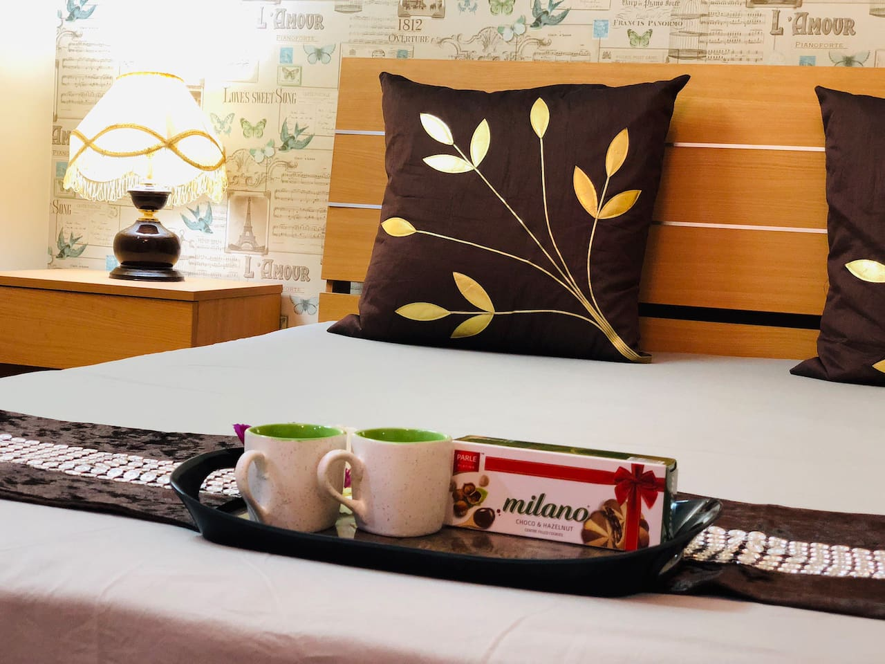 Comfortable king-size huge bed for you and your loved ones.