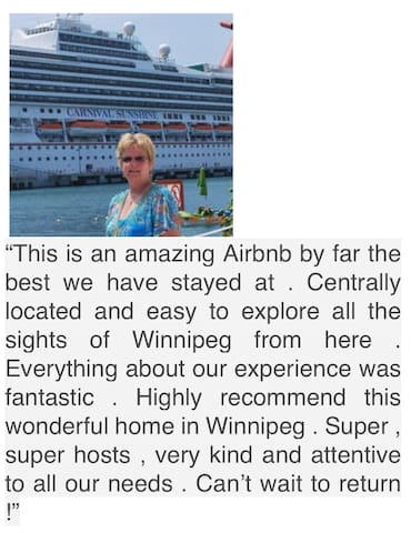 Very much appreciated Ruth This family traveled from Florida to stay with us, and see the Elton John Concert as well :)