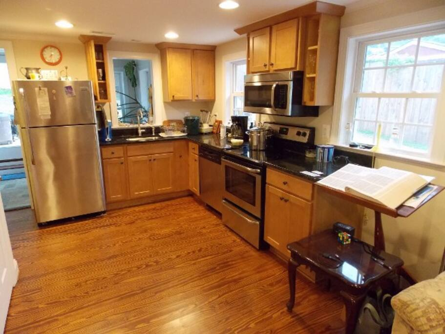Modern remodeled kitchen, microwave and dishwasher