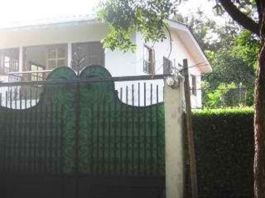 Front Gate of Spanish style House.