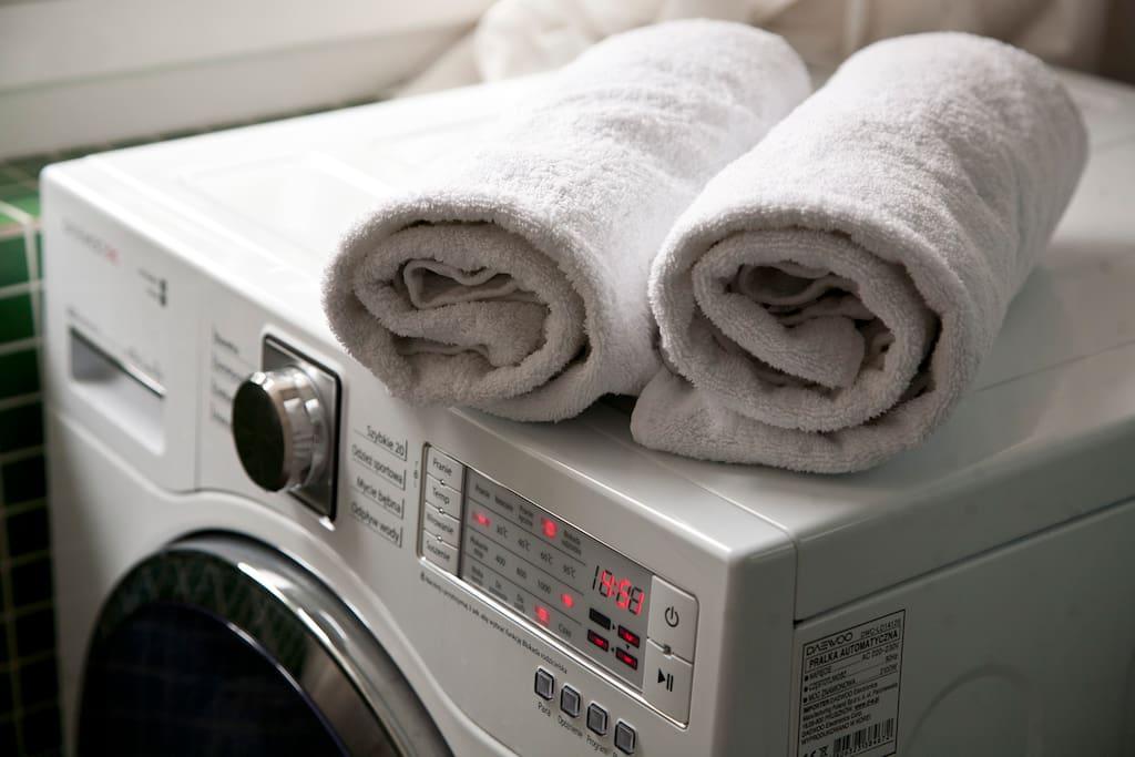Washing and drying...
