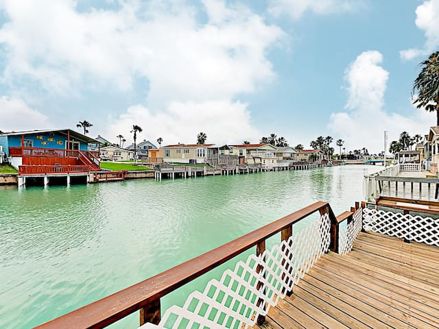 Newly Built Waterfront Home on Channel w/ 2 Pools