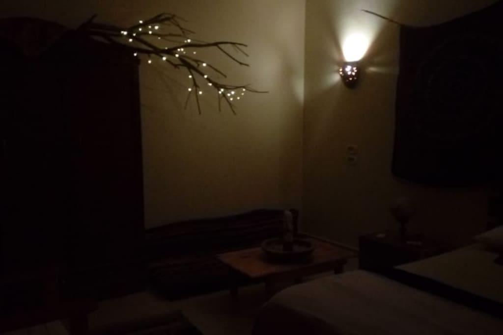 Room at night.