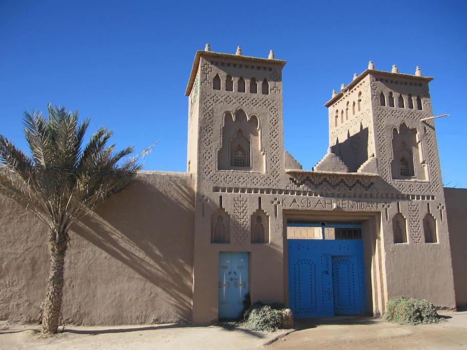 L'entrée de notre kasbah (maison traditionnelle)