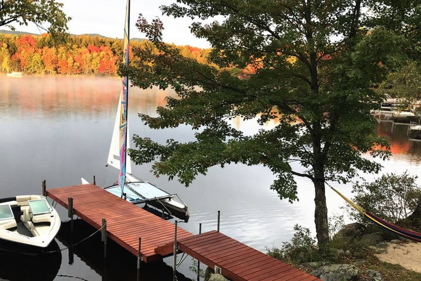 A beautiful October morning in front of my log home