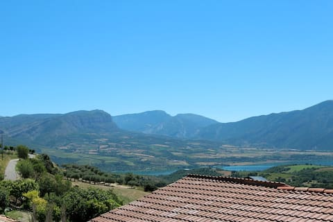 Incredible mountain and lake views.
