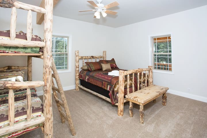 South upstairs room - bunk bed and double