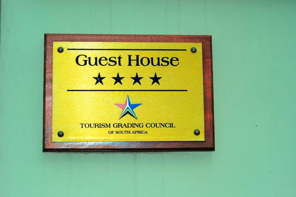 4 Star grading from Tourism Grading Council of South Africa